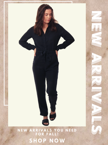 Bella Dahl Jumpsuits long sleeve v neck utility cargo style one piece jumper