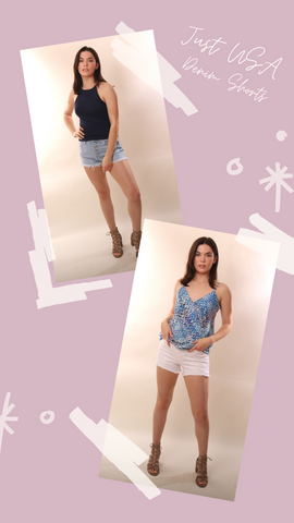 VERONICA M TOPS HI NECK NAVY FITTED TANK TOP