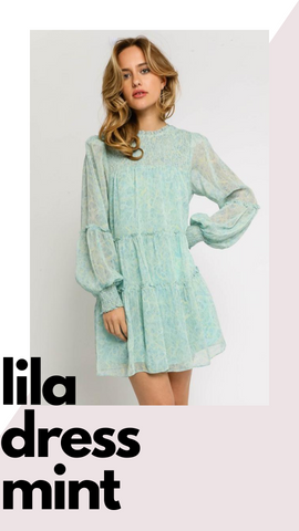 LILA DRESS OLIVACEOUS PASTEL FLORAL RUFFLE MINI SPRING DRESSES