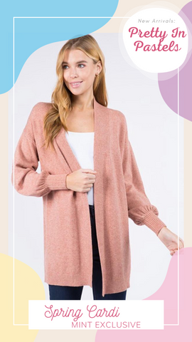 SPRING CARDI DREAMERS PINK SOFT SPRING SWEATERS
