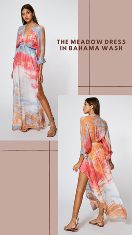 MEADOW DRESS MINT EXCLUSIVE SUMMER MAXI TIE DYE DRESS