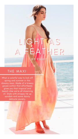 THE TULUM MAXI 9SEED COLORFUL SPRING SUMMER LIGHTWEIGHT DRESSES