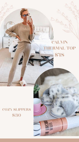 CALVIN THERMAL TOP THREAD AND SUPPLY SOFT COZY TOPS