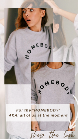 HOMEBODY SWEATSHIRT MINT EXCLUSIVE GREAY PULLOVER TOP