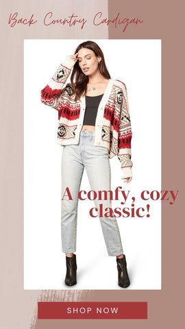 BACK COUNTRY CARDIGAN BB DAKOTA COLORFUL COZY FALL SWEATER KNITS