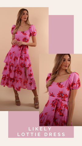 LOTTIE DRESS LIKELY FLORAL TIERED DRESS