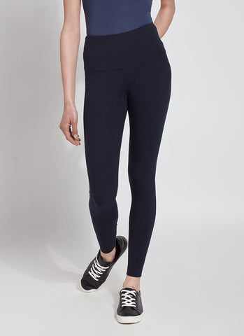 FLATTERING COTTON LEGGING LYSSE' MIDNIGHT NAVY PANTS