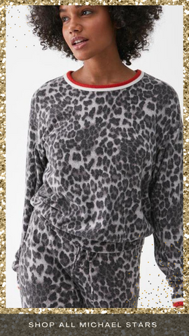 TATE SCOOP NECK MICHAEL STARS SUPER SOFT ANIMAL PRINT MATCHING SETS