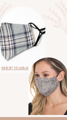FACE MASK MINT EXCLUSIVE ANIMAL PRINT LACE CRYSTAL PLAID MASKS
