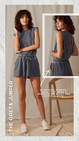 GRETA JUMPER GREY STATE BLUE ROMPER