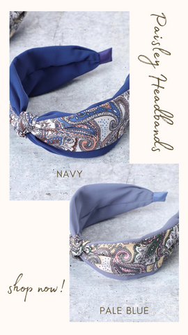 PAISLEY HEAD BAND MINT EXCLUSIVES HAIR ACCESSORY PAISLEY