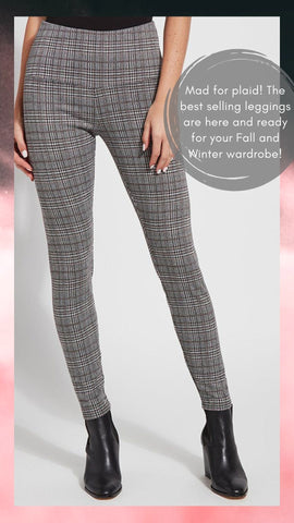 SIGNATURE LEGGING LYSSE' PLAID PANTS