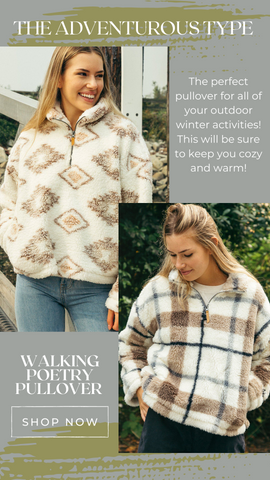 WALKING POETRY PULLOVER THREAD AND SUPPLY WUBBY PULLOVER TOPS
