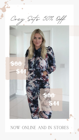 MOST COZY HOODIE SIX FIFTY TIE DYE TOP AND BOTTOM MATCHING SETS ON SALE