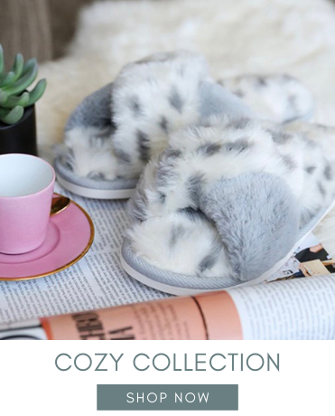 COZY LEOPARD SLIPPERS MINT EXCLUSIVE FURRY HOLIDAY GIFTS