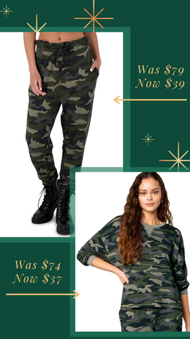 NOTHIN' TO SEE HERE TOP BB DAKOTA PULLOVER CAMO TOP MATCHING SETS