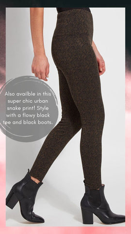 SIGNATURE LEGGING SPANX URBAN SNAKE GREEN AND BLACK PANTS