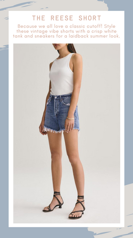 REESE SHORT AGOLDE DENIM CUTOFF SUMMER SHORTS