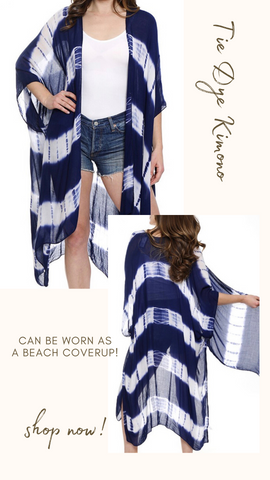 TIE DYE KIMONO COVER UP MINT EXCLUSIVES CAFTAN BEACH COVER UP TOP