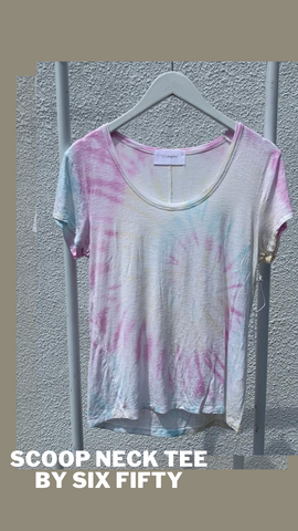 SCOOP NECK TEE SIX FIFTY PRETTY FEMININE TEE SHIRT TOP
