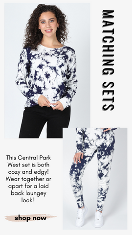 AMBER BLEACH SWEATER CENTRAL PARK WEST TOP MATCHING SETS