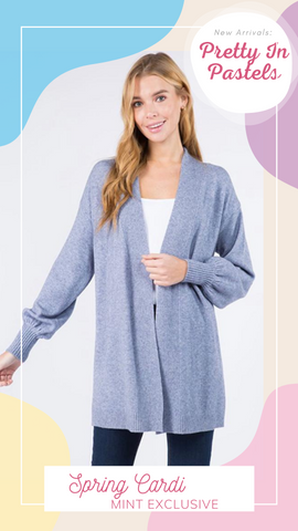 SPRING CARDI DREAMERS BLUE SOFT AND COMFORTABLE SPRING CARDIGAN SWEATERS