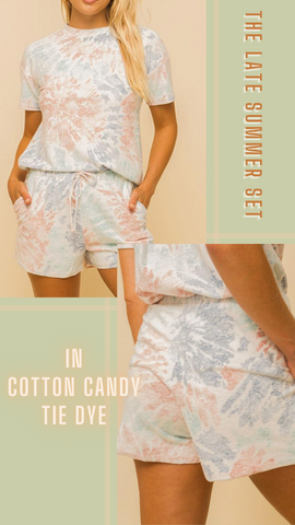 LATE SUMMER TOP SIX FIFTY COTTON CANDY COLORS MATCHING SETS