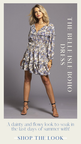 BELLE ISLE BOHO DRESS BISHOP AND YOUNG FLORAL FALL PRINT DRESSES