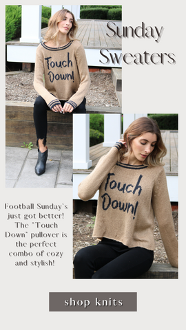 TOUCH DOWN CREW WOODEN SHIP FOOTBALL FALL SWEATER