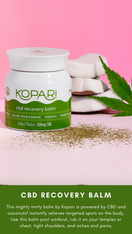 CBD RECOVERY BALM KOPARI SELF CARE ALL NATURAL RELIEVING CREAMS