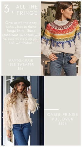 PAYTON FAIR ISLE SWEATER SAYLOR COLORFUL FRINGE FALL KNIT