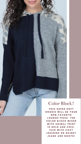 CROCKER HOODIE CENTRAL PARK WEST COLOR BLOCK SWEATER