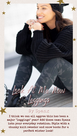LOOK AT ME NOW LEGGINGS SPANX GREY CAMO COMFY STRETCHY PANTS