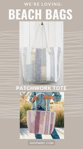 PATCHWORK TOTE LOVESTITCH BOHEMIAN COLORFUL SUMMER TOTE BAGS