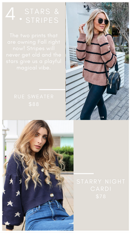 RUE SWEATER THREAD AND SUPPLY FALL STRIPED KNITS