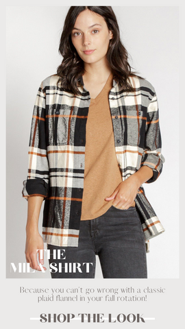 MILA SHIRT THREAD AND SUPPLY FLANNEL BUTTON UP FALL SHIRTS