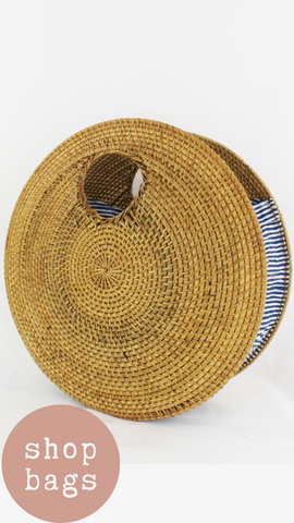 CIRCLE RATTAN BAG MINT EXCLUSIVE CIRCLE STRAW SUMMER BAG