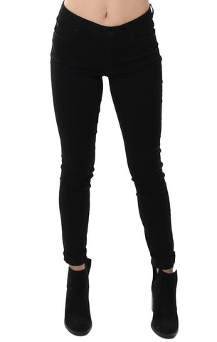 Articles Of Society Denim Skinny Leg Stretchy Coated Black Jeans