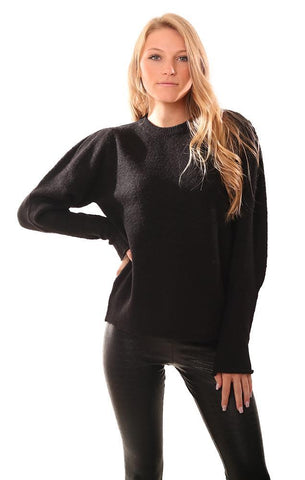 RD STYLE SWEATERS LONG SLEEVE BLACK PULLOVER KNIT SWEATER