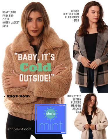 SHOPMINT JACKETS FALL COZY COATS