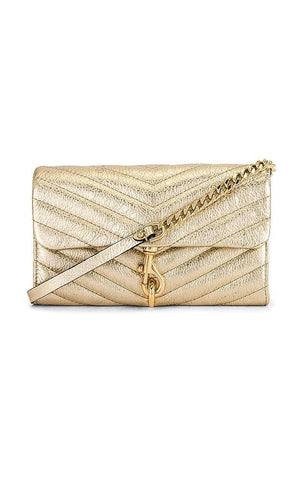 REBECCA MINKOFF HANDBAGS SMALL WALLET CROSSBODY GOLD BAG