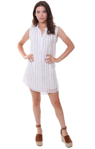 bella dahl dresses lightweight striped sundress mini white summer dress