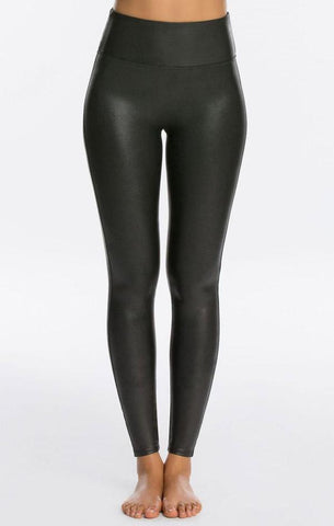 FAUX LEATHER LEGGINGS SPANX SOFT AND STRETCHY SEXY PANTS