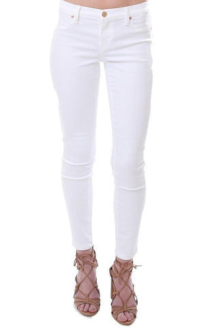 white denim jeans skinny leg