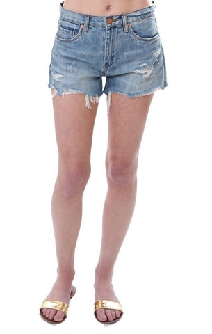 distressed denim cut offs summer beachy beach vibe cutoffs