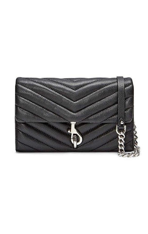 REBECCA MINKOFF HANDBAGS SMALL WALLET CROSSBODY BLACK BAG