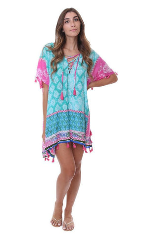 Surf Gypsy by vintage havana beach cover up dresses tunic boho style tie dyed