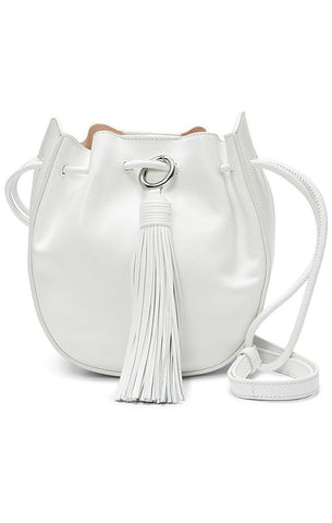 REBECCA MINKOFF HANDBAGS SADDLE BAG LEATHER WHITE CROSSBODY