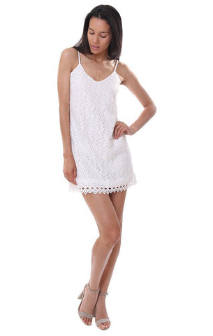 bb dakota dresses lace geometric white dress