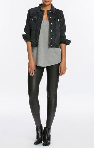 FAUX LEATHER LEGGINGS SPANX SEXY FIRM WINTER HOLIDAY LEGGINGS